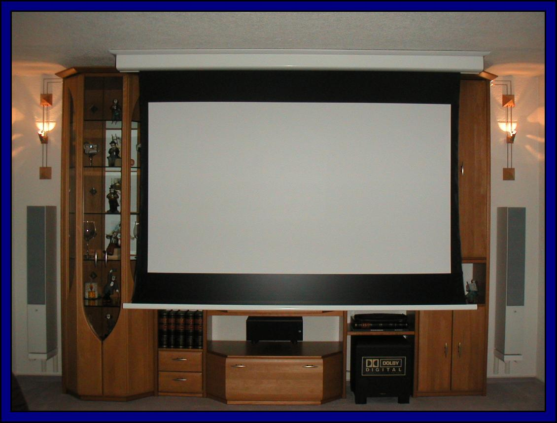 heimkino wohnzimmer leinwand raum und m beldesign inspiration. Black Bedroom Furniture Sets. Home Design Ideas